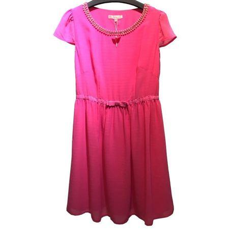玛玮丝连衣裙M42L1059 玫红 换季清仓特惠一口价199元