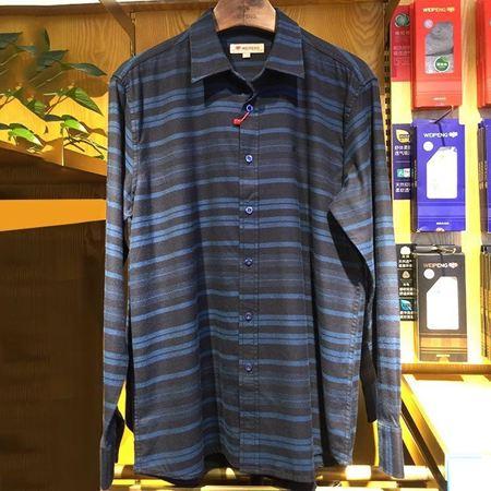 威鹏男装休闲长袖衬衫  C43025 新款上市