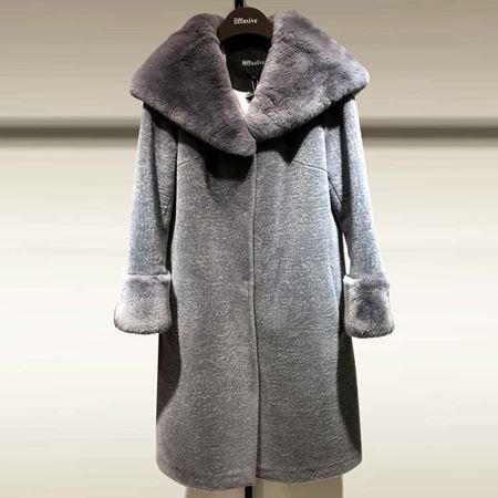 3ffusive中长款羊毛大衣375018H 灰色