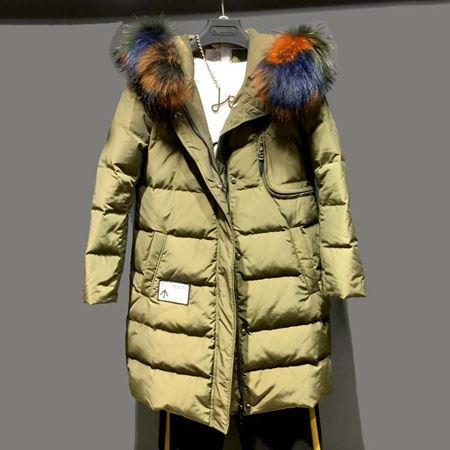 诺兰贝尔 冬季新款羽绒服 军绿色/白色 184Y3642
