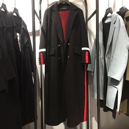 范柏菲 双面呢大衣 黑色 74D8878