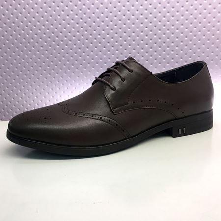富贵鸟 春季新款男鞋 T8043477 黑色/褐色