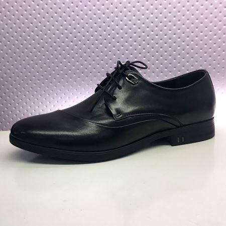 富贵鸟 春季新款男鞋 T8043577 黑色/褐色