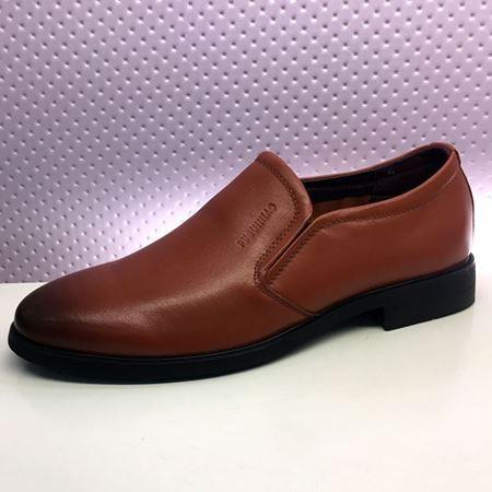富贵鸟 春季新款男鞋 T8041685 黑色/褐色