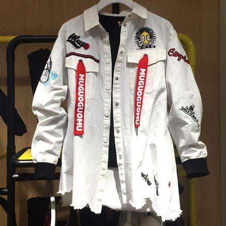 木果果木梭织长袖外套M80A6109 米白