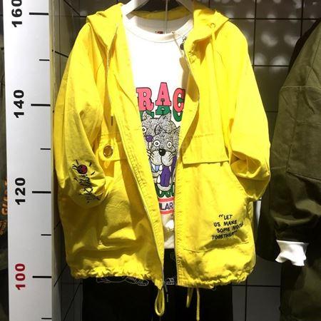 木果果木梭织长袖有里外套M80A6162 鹅黄