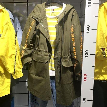 木果果木梭织长袖有里外套M80A6926-1 军绿 2018年新款