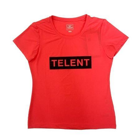 天伦天 女速干圆领T恤682321 蜜粉/黑色 夏季新款