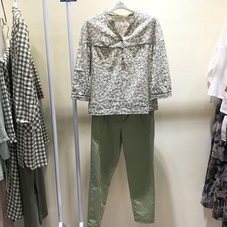 依伽依佳 同色款自搭上衣裤子套装 18CC028 18CK013 夏季新款