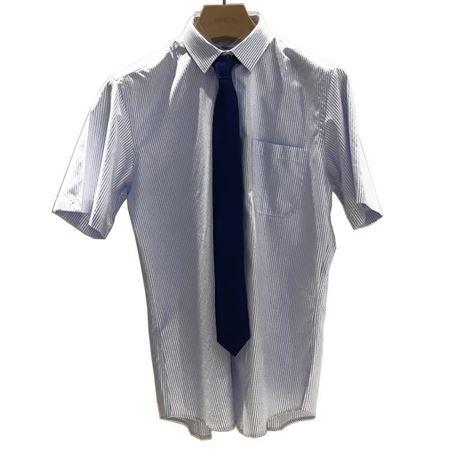 雅戈尔 男士圆摆寸衫 YSDP12181FA 白色条纹