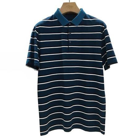 雅戈尔 男士短袖上衣 YSCS52508GCA 藏青底黑白条纹