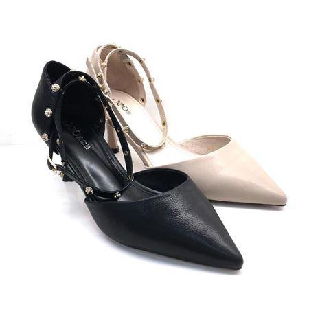 吉尔达 女士皮鞋 夏季新款 828058-1W 黑色/白色