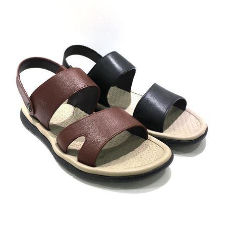 七匹狼鞋业 男式沙滩凉皮鞋 8783330046 褐色/黑色