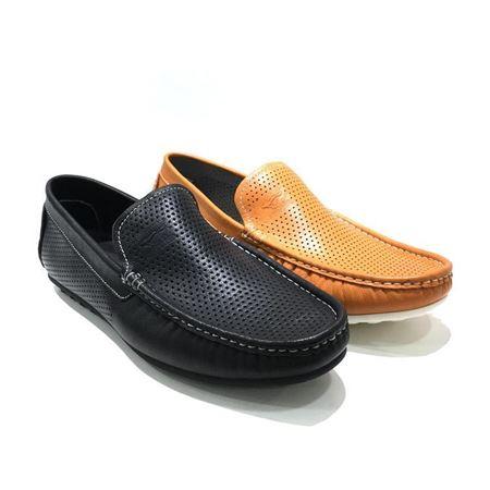 七匹狼鞋业 男式皮鞋 夏季新款 581824313 亮褐色/黑色