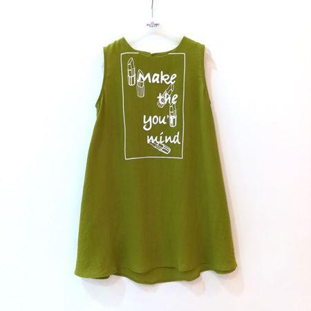 布鲁莎莎 女中童梭织连衣裙 绿色 822264 夏季新款