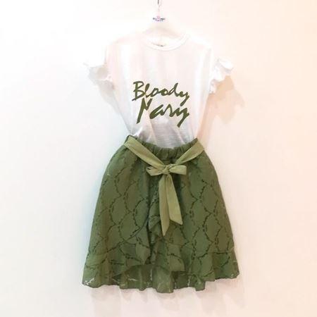 布鲁莎莎 女中童针织两件套 浅绿 822568 夏季新款