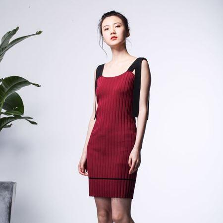 三生物 定制 吊带修身针织连衣裙