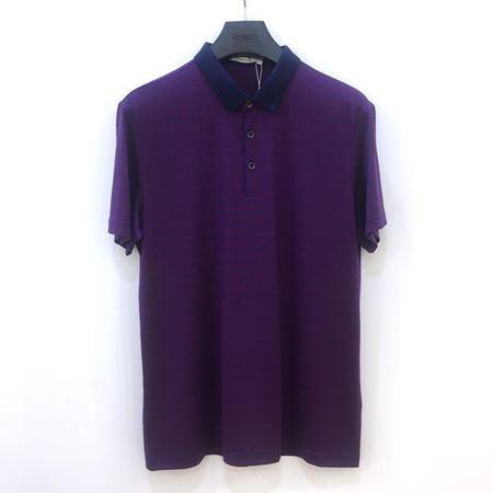 罗蒙男士短袖T恤 6T182712 暗紫色 2018夏季新款