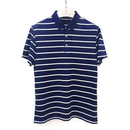罗蒙男士短袖T恤 6T182710 蓝白条纹 2018夏季新款