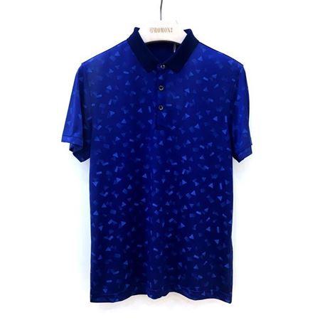 罗蒙男士短袖T恤 6T182714 藏蓝色 2018夏季新款