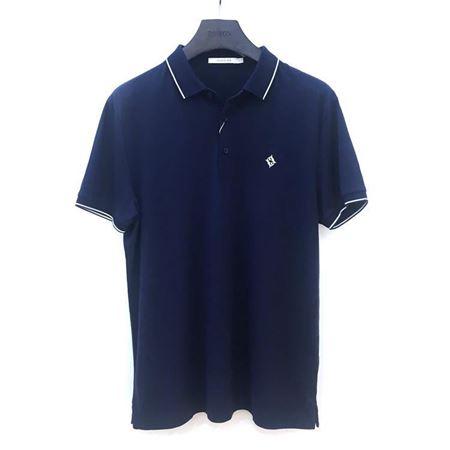 罗蒙男士短袖T恤 6T182729 青蓝色 2018夏季新款