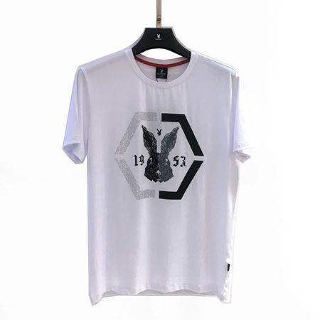 花花公子针织T恤衫1381060-3 00 白色 2018夏装新款