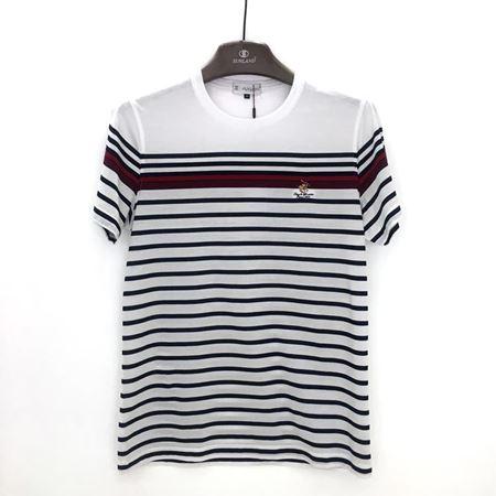 绅浪短袖T恤衫 PS-D82T50306 白色黑条纹 2018夏季新款
