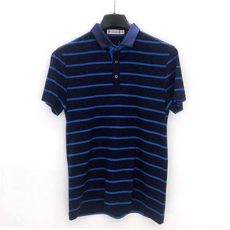 绅浪短袖T恤衫SO-091-2 黑色蓝条纹 2018夏季新款