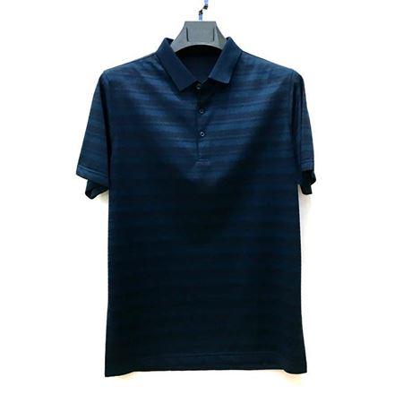 金狐狸 男士T恤8768 深蓝色翻领 2018夏季新款