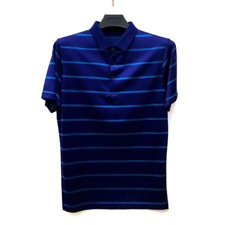 金狐狸 男士T恤8707 藏蓝色翻领 2018夏季新款