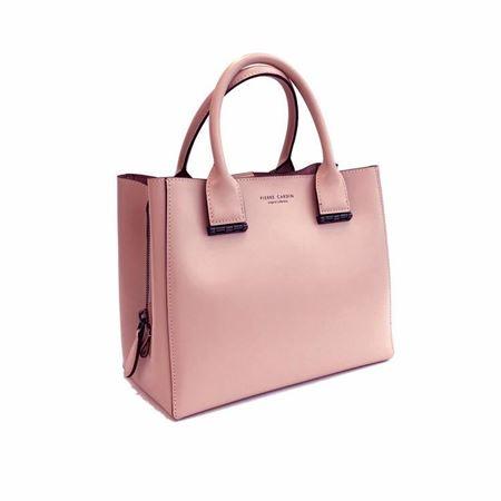 皮尔卡丹 女包 牛头层皮革 P7A256013 粉红色 2018年新款