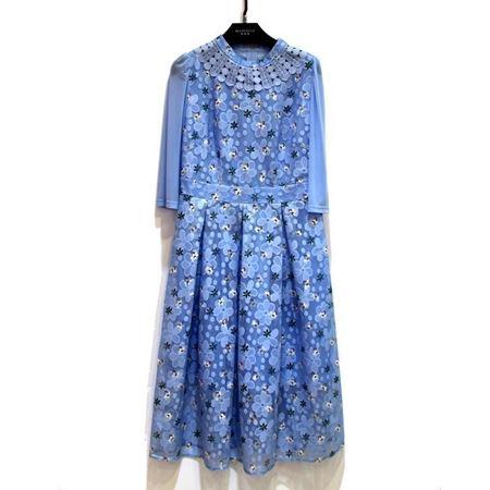 玛玮丝 连衣裙 M18L1035 蓝色 2018年新款
