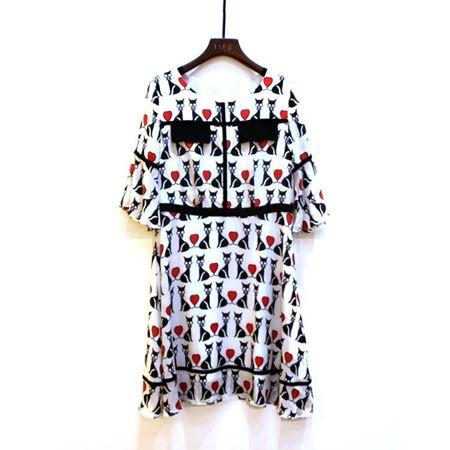 艾菲 连衣裙 130311 100%桑蚕丝 2018年夏季新款