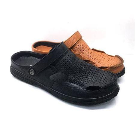 吉尔达 男式凉皮鞋 873BL-821803 黑色/褐色