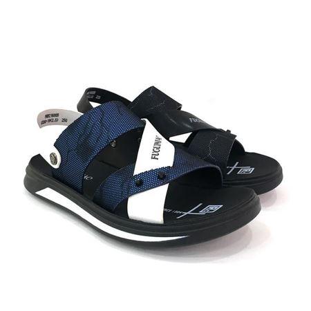 富贵鸟 夏季特价男士凉鞋FM8216805 0330-19 蓝白/黑色 2018年新款