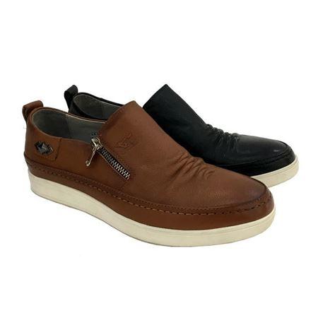 七匹狼男鞋 夏季单鞋3611961134-20 黑色/灰色 2018夏季新款