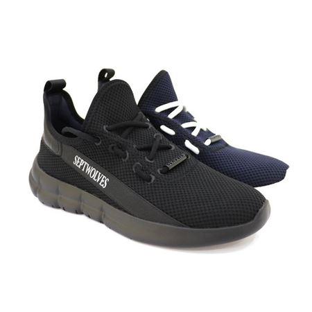 七匹狼鞋业 休闲男鞋 8381090769 黑色/深蓝色