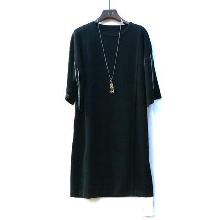 艾菲 连衣裙 黑色 100%丝光棉 190021 2018年新款