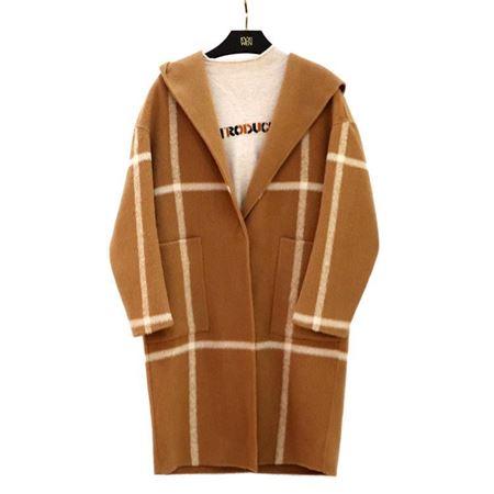 佧茜文 双面呢大衣 17810A8152243 格纹艺术