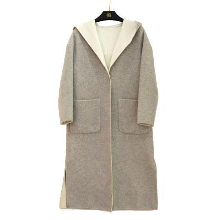 佧茜文 双面呢大衣 17811A8151278 灰色