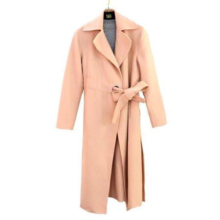 佧茜文 双面呢大衣 17810A8152245 樱花粉 100%羊毛