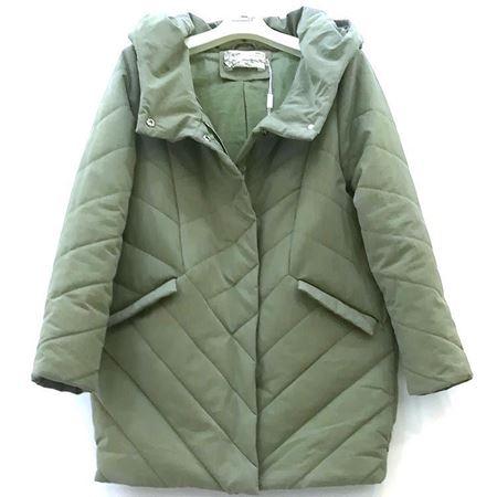 依伽依佳 绿色棉衣 YBDM410 2018年冬季新款