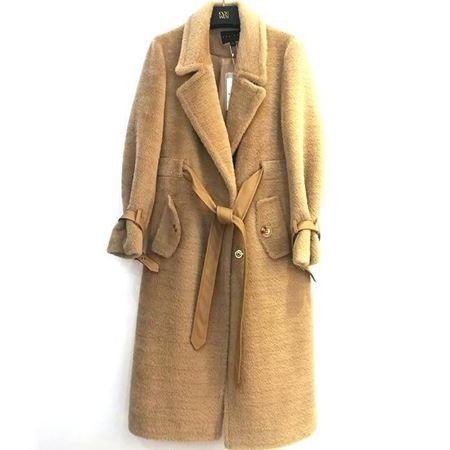 佧茜文 袍式系带大衣 Q11BDB82522 2018年冬季新款