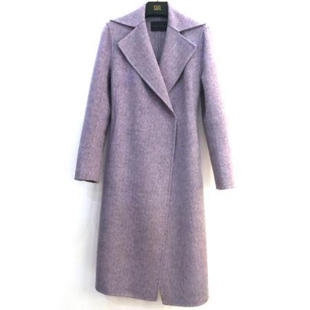 佧茜文 双面呢大衣 A10BWB86381 淡雪紫 2018年冬季新款