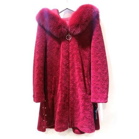 度歌 羊毛服饰大衣 JC012 红沙漠色 2018年冬季新款