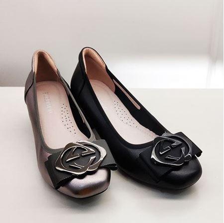 富贵鸟 2019春季新款女鞋 FW9121836  黑色/银色