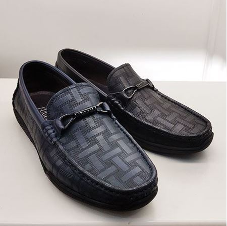 富贵鸟 2019春季新款男鞋FM9111002 灰色/深蓝色