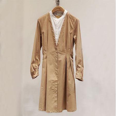 易菲 2019春款 X型长袖连衣裙 1903Y408  卡其色