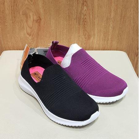 肯拓普女式休闲鞋C111781128 黑色/紫色