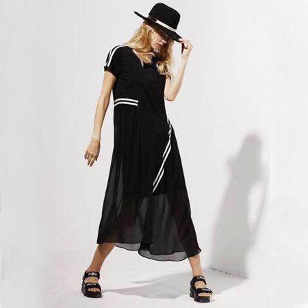 C/P女士连衣裙L192376 玄青黑 2019夏季新款